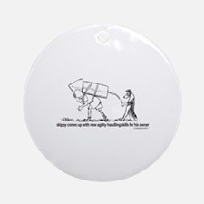 Senior Agility Handler Ornament (Round)