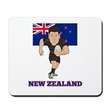 rugby new zealand Mousepad