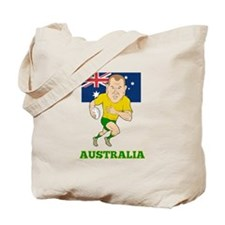 Rugby Player Australia Tote Bag