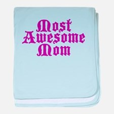 Most Awesome Mom baby blanket
