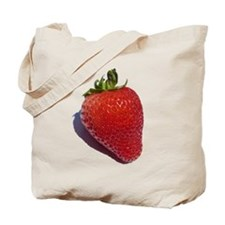 Cute Strawberry berry fruit red ripe botany fresa Tote Bag