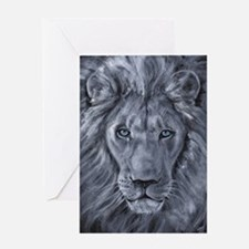 Bold Lion Greeting Card