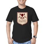 In Vino Veritas Men's Fitted T-Shirt (dark)
