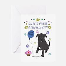 Pit Bull Greeting Card