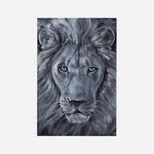 Bold Lion Rectangle Magnet