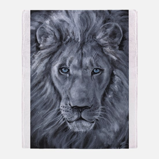 Bold Lion Throw Blanket