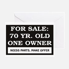 For Sale 70 Year Old Birthday Greeting Card