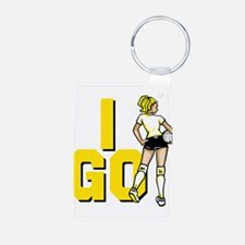 I Go! Volleyball Keychains