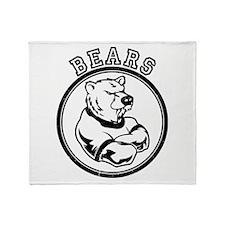 Bears Team Mascot Graphic Throw Blanket