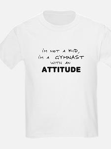 Gymnast with Attitude Kids T-Shirt