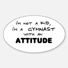 Gymnast with Attitude Oval Decal