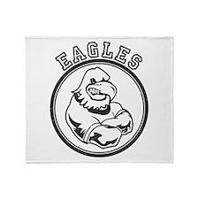 Eagles Team Mascot Graphic Throw Blanket