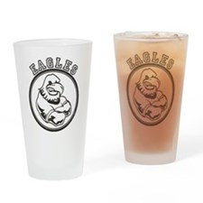 Eagles Team Mascot Graphic Drinking Glass