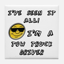 Funny Tow truck Tile Coaster