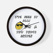Cute Tow truck driver Wall Clock