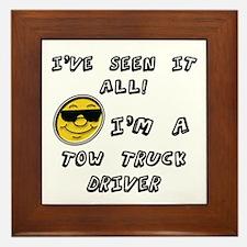 Funny Tow truck Framed Tile