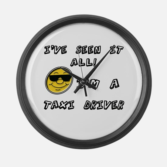 Funny Taxi Large Wall Clock
