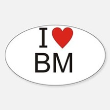 Cute Bm Sticker (Oval)