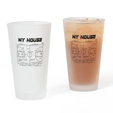 Basketball House Drinking Glass
