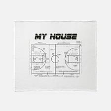 Basketball House Throw Blanket