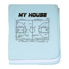 Basketball House baby blanket