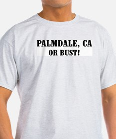 Palmdale or Bust! Ash Grey T-Shirt