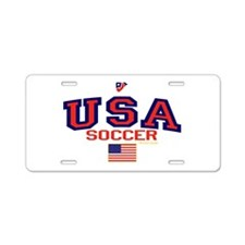 USA American Soccer Aluminum License Plate