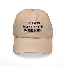 Live Shark Week Baseball Baseball Cap
