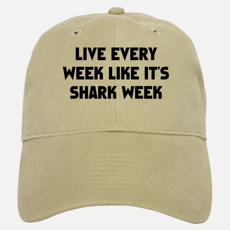 Live Shark Week Baseball Baseball Cap