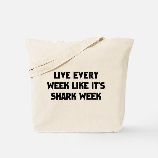 Live Shark Week Tote Bag