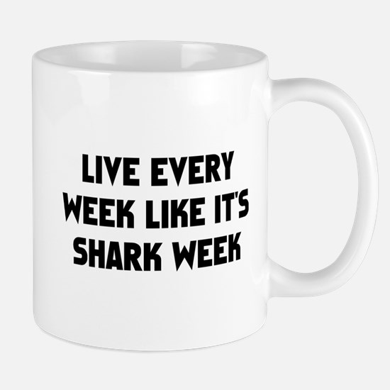 Live Shark Week Small Mug