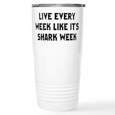 Live Shark Week Ceramic Travel Mug