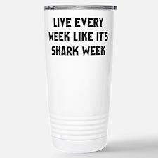Live Shark Week Travel Mug