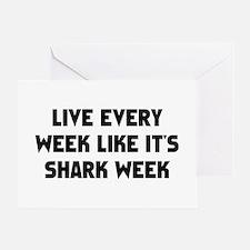 Live Shark Week Greeting Card