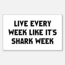 Live Shark Week Bumper Stickers