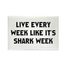 Live Shark Week Rectangle Magnet