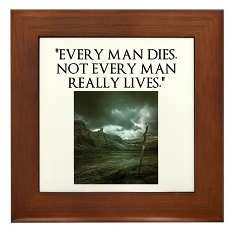 Manliness Framed Tile