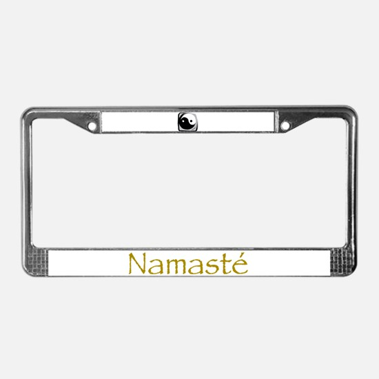 Yin and Yang License Plate Frame