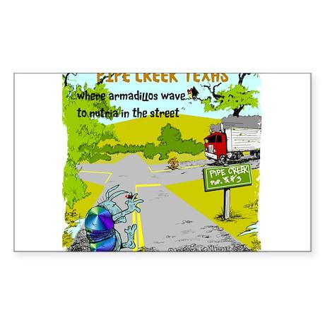 Pipe Creek Texas Sticker (Rectangle)
