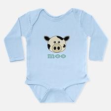 Animal Noises - Cow Moo Long Sleeve Infant Bodysui