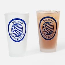 Greece Hellas Soccer/Football Drinking Glass