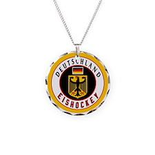 Germany Hockey(Deutschland) Necklace Circle Charm