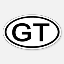 GT - Initial Oval Oval Decal