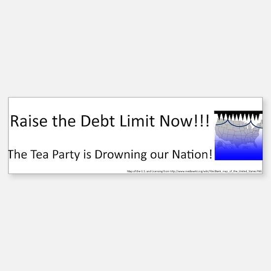 Raise the Debt Limit Now Sticker (Bumper)