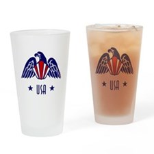 USA Gold Eagle-Art Deco Drinking Glass