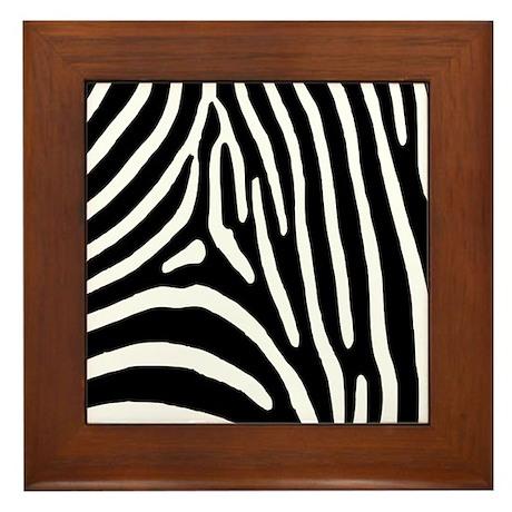 Zebra Stripes Framed Tile
