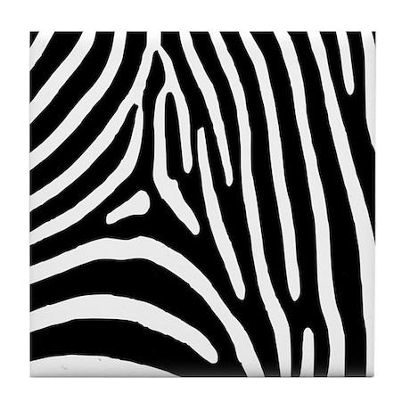 Zebra Stripes Tile Coaster