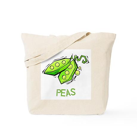 Twin Set -- Peas Tote Bag