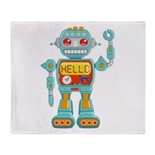 Hello Robo Throw Blanket