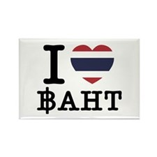I Heart (Love) Baht Rectangle Magnet